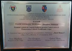 """Anunt de presa """"Grupul vocal  barbatesc Burnasul a castigat  trofeul Concursului national al  grupurilor  vocal –folclorice barbatesti  Dorel  Manea editia a IV-a"""""""