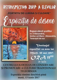 """Expozitiei de desene """" Portativ de Lumina si Culoare"""""""