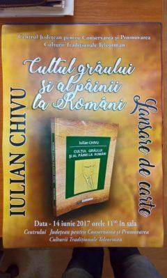 """Lansare de carte """"Cultul grâului și al pâinii la români"""""""