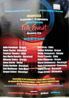 Tabara naţională ''Folk Event'' ediţia a II a