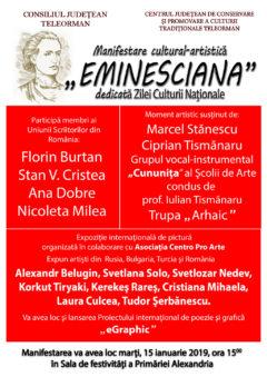 "Ziua Culturii Nationale ""Eminesciana"""