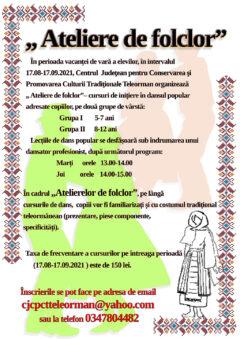 Atelier de folclor