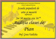 Auditia Clasei de Pian