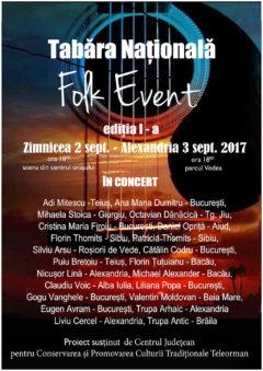 Tabara naţională ''Folk Event'',  ediţia I